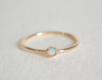 jewels gold opal center cute gold ring opal stone