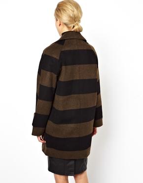 ASOS | ASOS Striped Ovoid Coat at ASOS