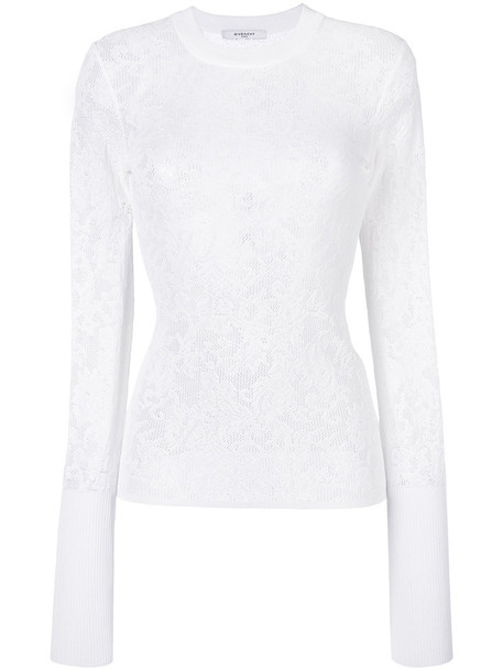 top knitted top women floral white