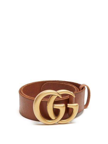 gucci belt leather tan