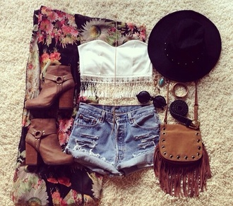 shorts jeans cut off shorts cute lovely sweet 16 dresses shirt bag sunglasses jewels shoes tank top top crop fringes tube feathers clothes concert cardigan