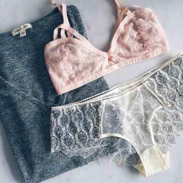 shirt underwear pink bra pink romantic undewear dentelle white blue underwear sexy bra bralette lace t-shirt