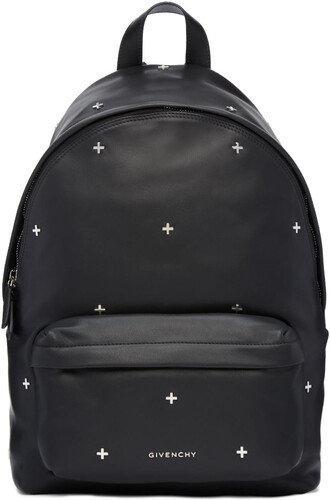 cross backpack leather black black leather bag