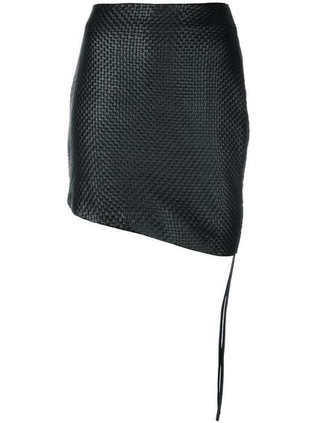 Magda Butrym skirt mini skirt mini women weave black silk