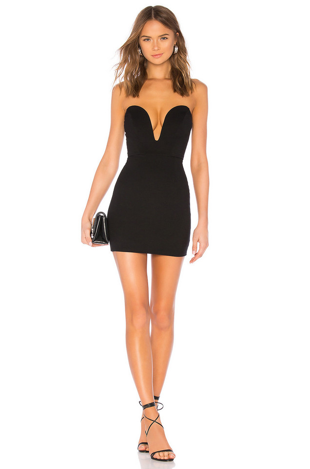 h:ours Cynlee Mini Dress in black