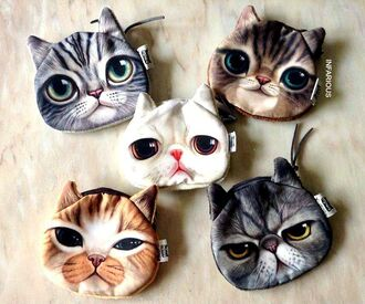 bag cats pouch cat purse funny