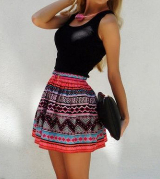 aztec colorful skirt