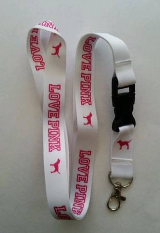 jewels lanyard pink victoria's secret