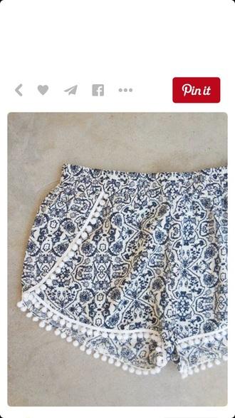 shorts blue shorts bohostyle