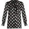 Polka-dot print silk-georgette blouse