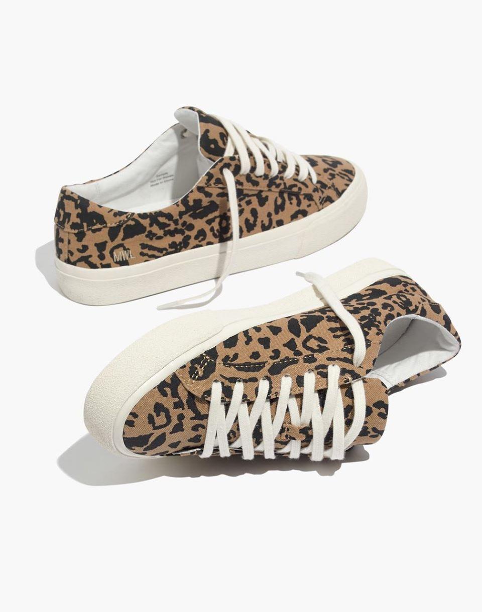 Sidewalk Low-Top Sneakers in Leopard Print Recycled Canvas