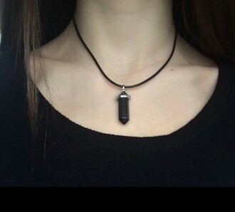 jewels crystal quartz necklace crystal quartz necklace grunge pale grunge pale sweatshirt black crystal quartz necklace black black crystal black quartz black necklace crystal quartz black sweatshirt