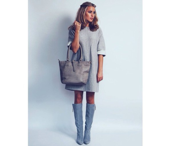 shoes grey suede boots dress