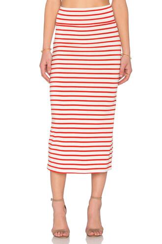 skirt high waisted high red