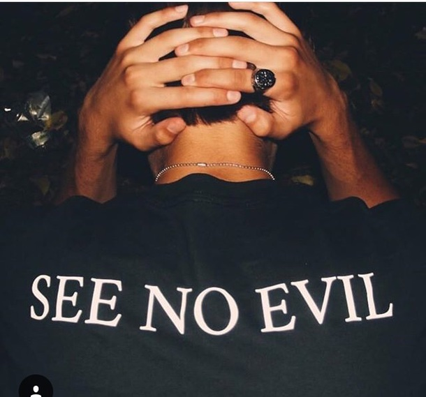 shirt see no evil hear no evil black black t-shirt black shirt