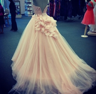 dress wedding prom homecoming idea pale pink pastel cute girly outfit ideas pretty ruffle floral flowers design prom dress long prom dress wedding dress elegant dress xv quinceanera dress