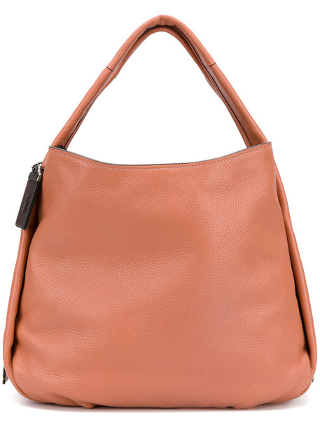 Coach - Bandit hobo tote - women - Leather - One Size, Yellow/Orange, Leather