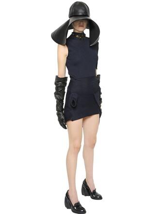 dress asymmetrical black
