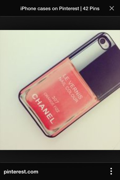 chanel phone case phonecover iphone 4 case red nail polish