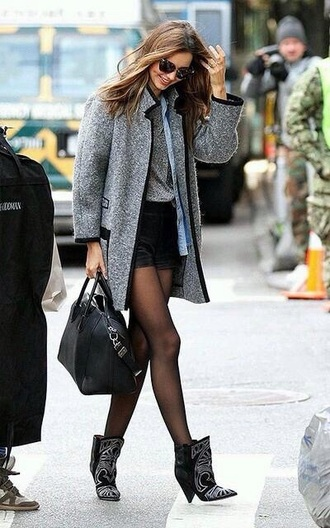 grey coat miranda kerr