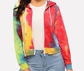 sweater,girly,girl,girly wishlist,hoodie,zip,zip-up,tie dye,tie dye sweater