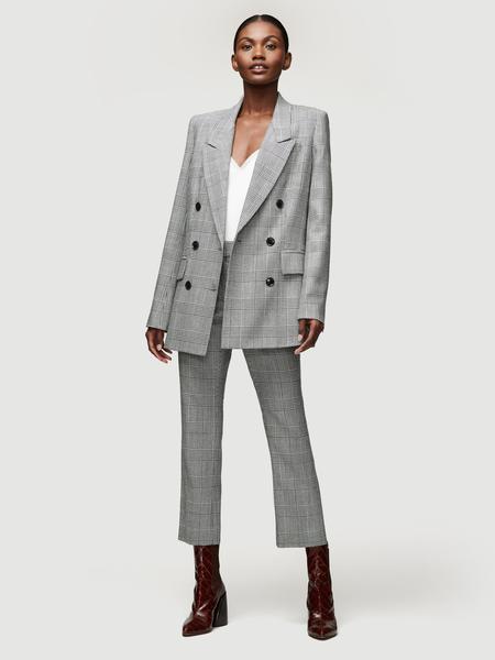 Glen Plaid Jacket Noir Multi