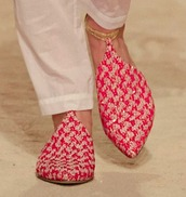 shoes,chanel babouche,babouches,red babouches,slippers,chanel