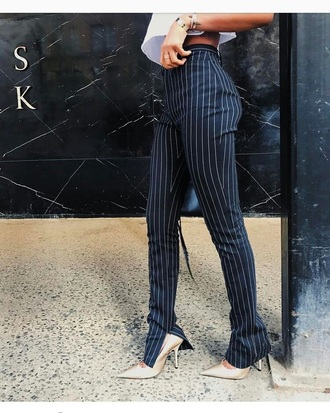 pants plaid leggings heels trendy stripes black dress black grey tumblr