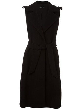 coat sleeveless coat sleeveless women black wool
