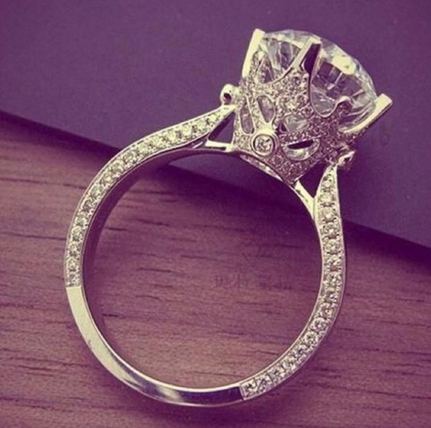jewels wedding ring engagement ring diamonds ring diamonds diamond ring crown crown ring silver ring ring - Crown Wedding Rings