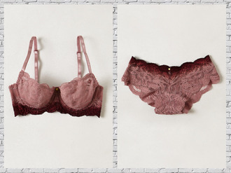ombre panties bra lingerie lace lace bra underwear shoes lebrons pinkish red lace lingerie bralette pinkish reddish
