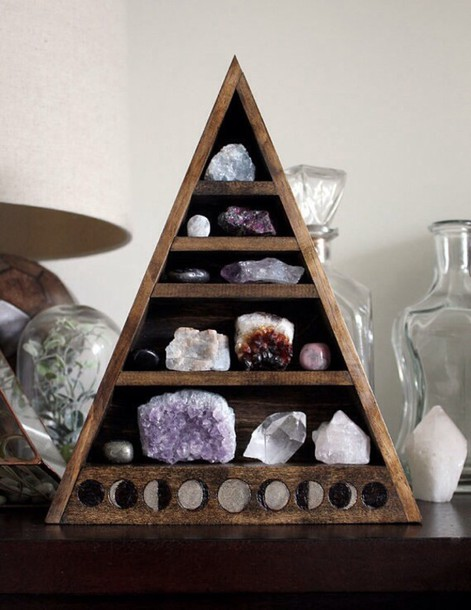 Jewels Wood Wooden Crystal Stones Gypsy Hippie Furniture Moon Phases Moon