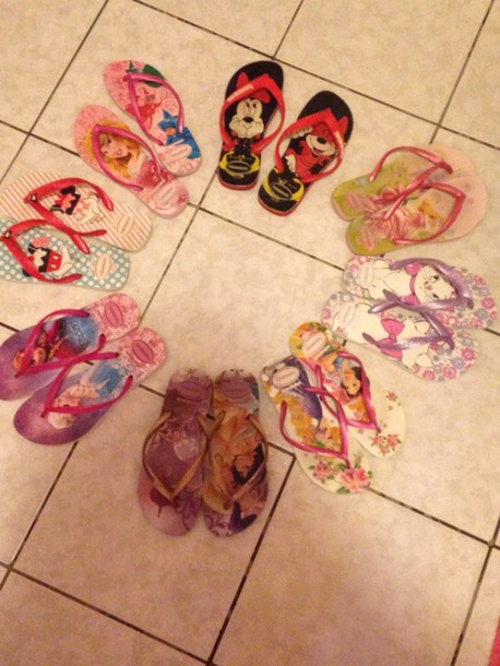 shoes havaianas minnie mouse princess aurora marie aladin frozen