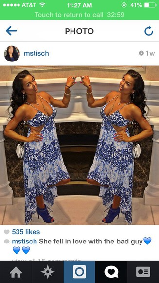 blue dress cute dress maxi dress cutout dress
