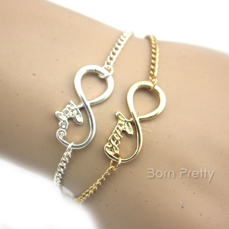 $3.68 1PC Women Jewelry Contracted Auspicious Infinite Shape Bracelet Hot Selling - BornPrettyStore.com