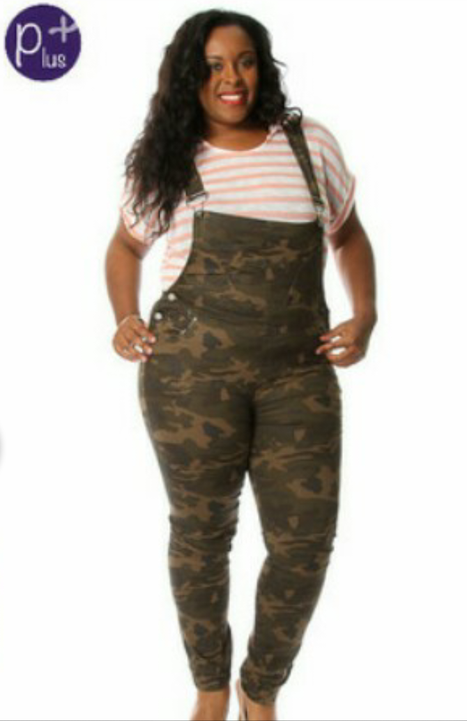2b255bb533d Plus Size camouflage Overalls - Platinum South Fashion Clothing