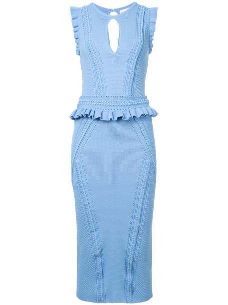 Rebecca Vallance dress women blue knit
