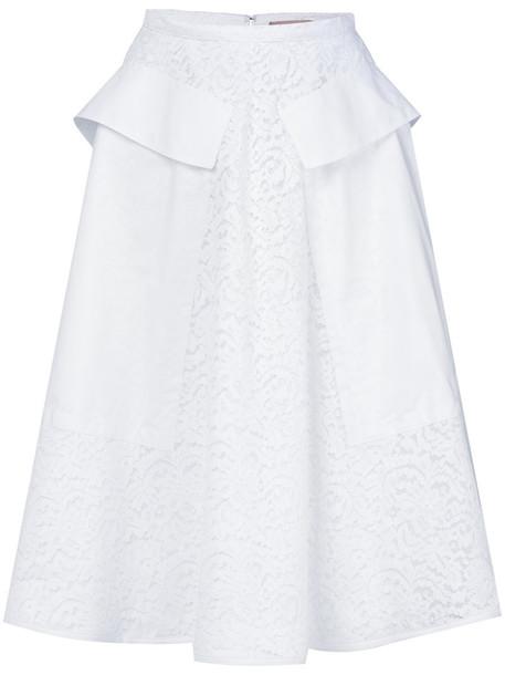 No21 skirt women lace white cotton