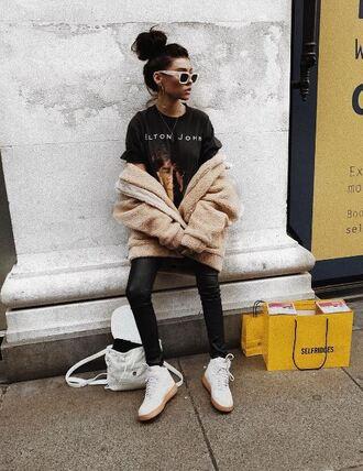 t-shirt jacket pants madison beer sneakers instagram