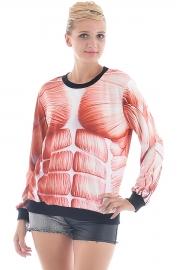 Massive Muscle Print Sweatshirt - OASAP.com