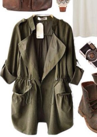 jacket cardigan green khaki lovely now