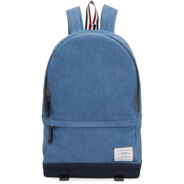 Thom Browne Blue Denim Unstructured Backpack