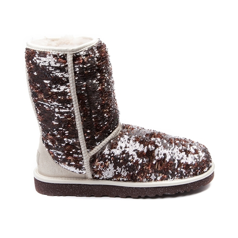 womens ugg classic short sparkle boot champagne at. Black Bedroom Furniture Sets. Home Design Ideas