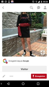 top,stripes,korean fashion,coree,idol,kpop,kpop idol,gdragon,bts,black,red,grunge,punk,asia,japan,rock,tumblr,long sleeves,shirt