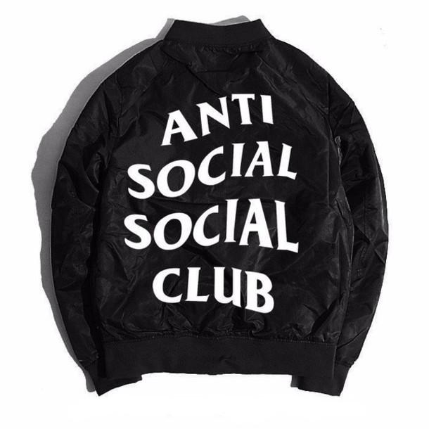 765e0d0fefa2 jacket bomber jacket satin bomber black bomber jacket antisocial social club  ogvibes ogv