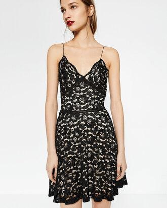 dress lace dress black dress zara