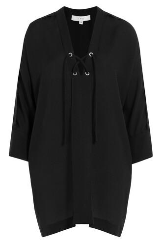 blouse tunic black top