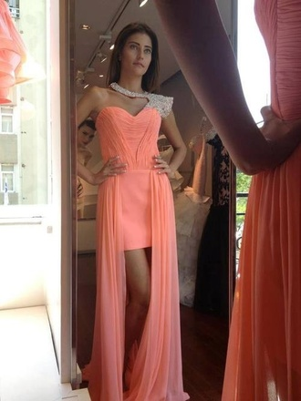 dress prom pink glitter girly fashion short long perfect classy gorgeous elegant glamour