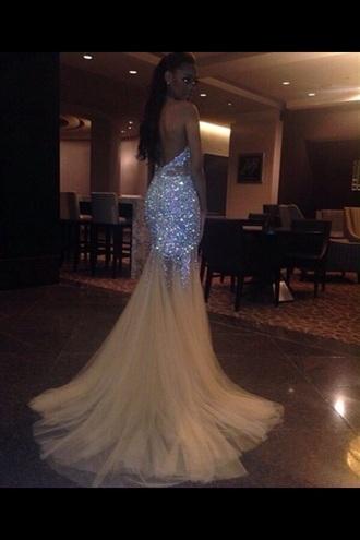 strapless sparkly dress sequin dress mermaid prom dresses prom dress white sequin dress