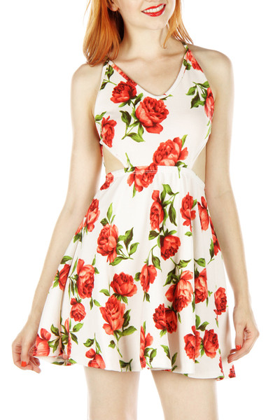 Open side floral dress